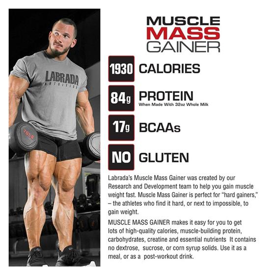 LABRADA MUSCLE MASS GAINER - 6 Lbs