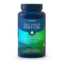 GNC TRIPLE STRENGTH FISH OIL - 120 Softgels